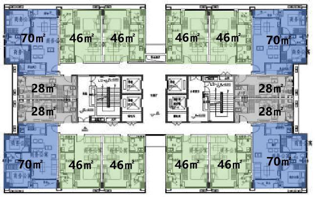 宝德云谷公寓平面图