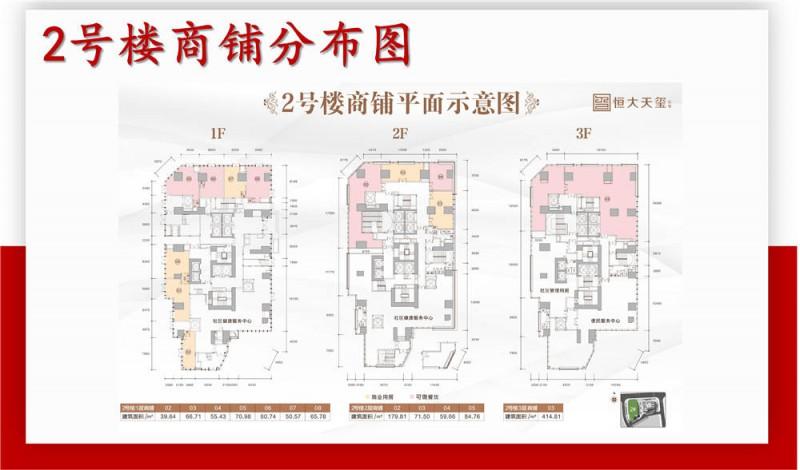 恒大天玺公馆商铺2号楼平面图