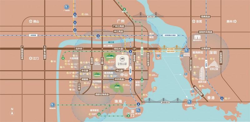 中山尚城·观山湖交通图