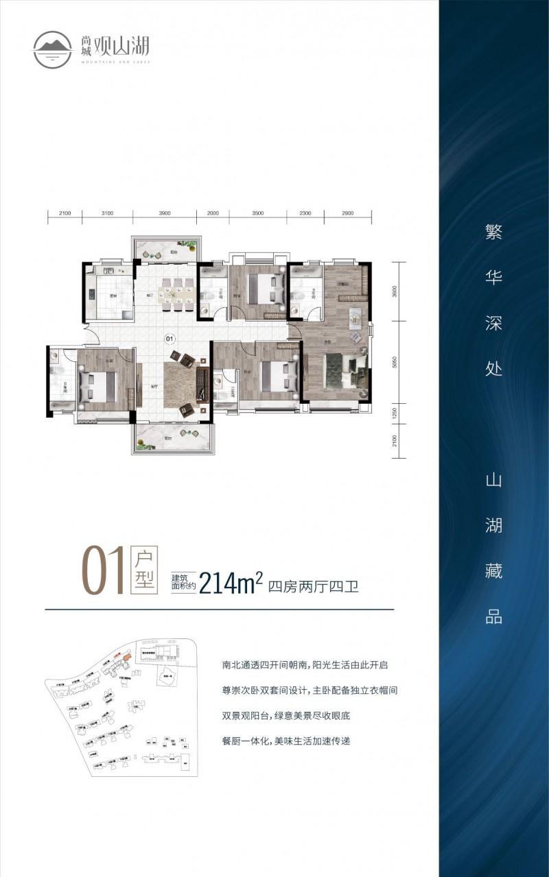 中山尚城·214平户型图