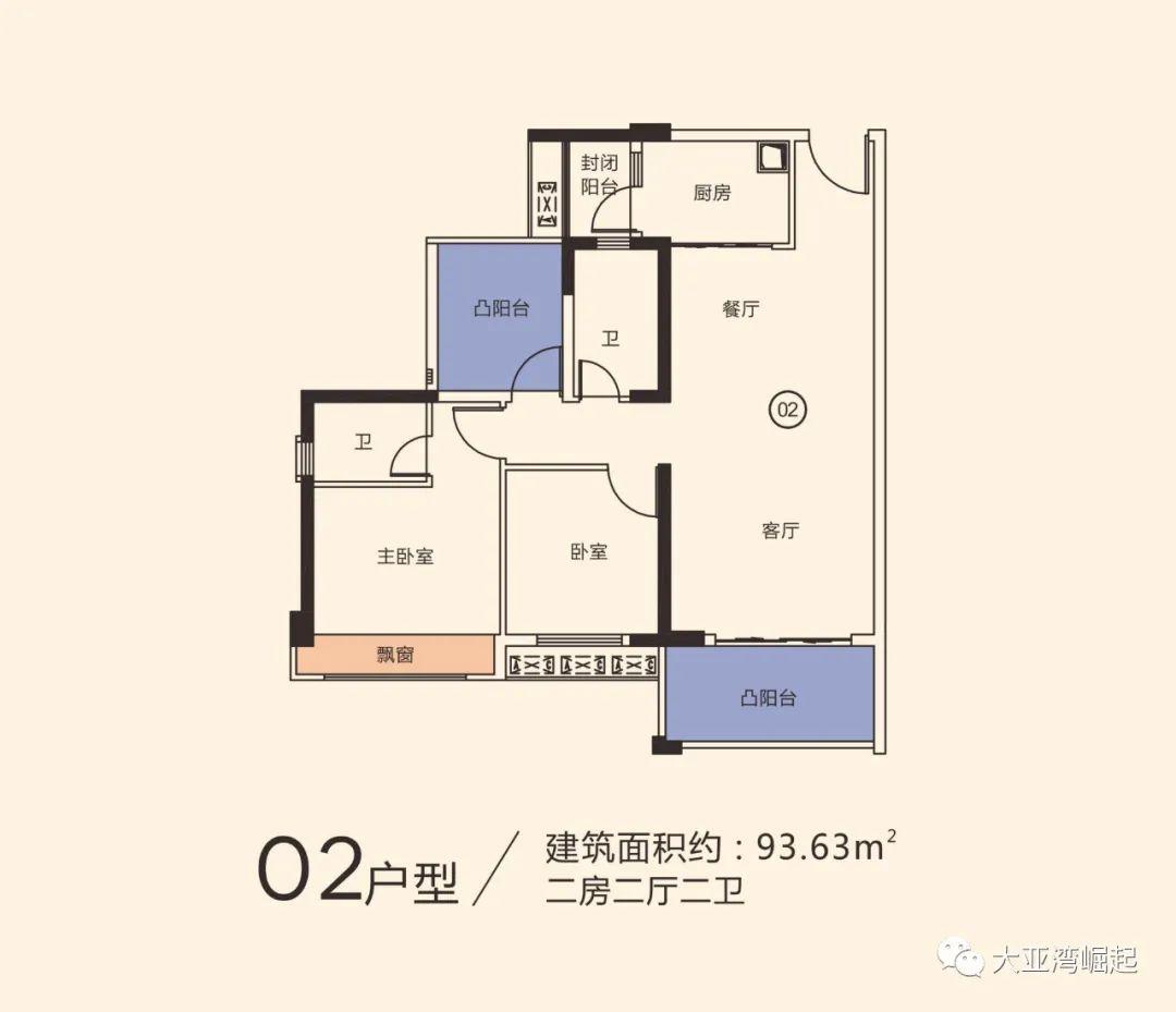 冠华城桂香园三期93平户型图