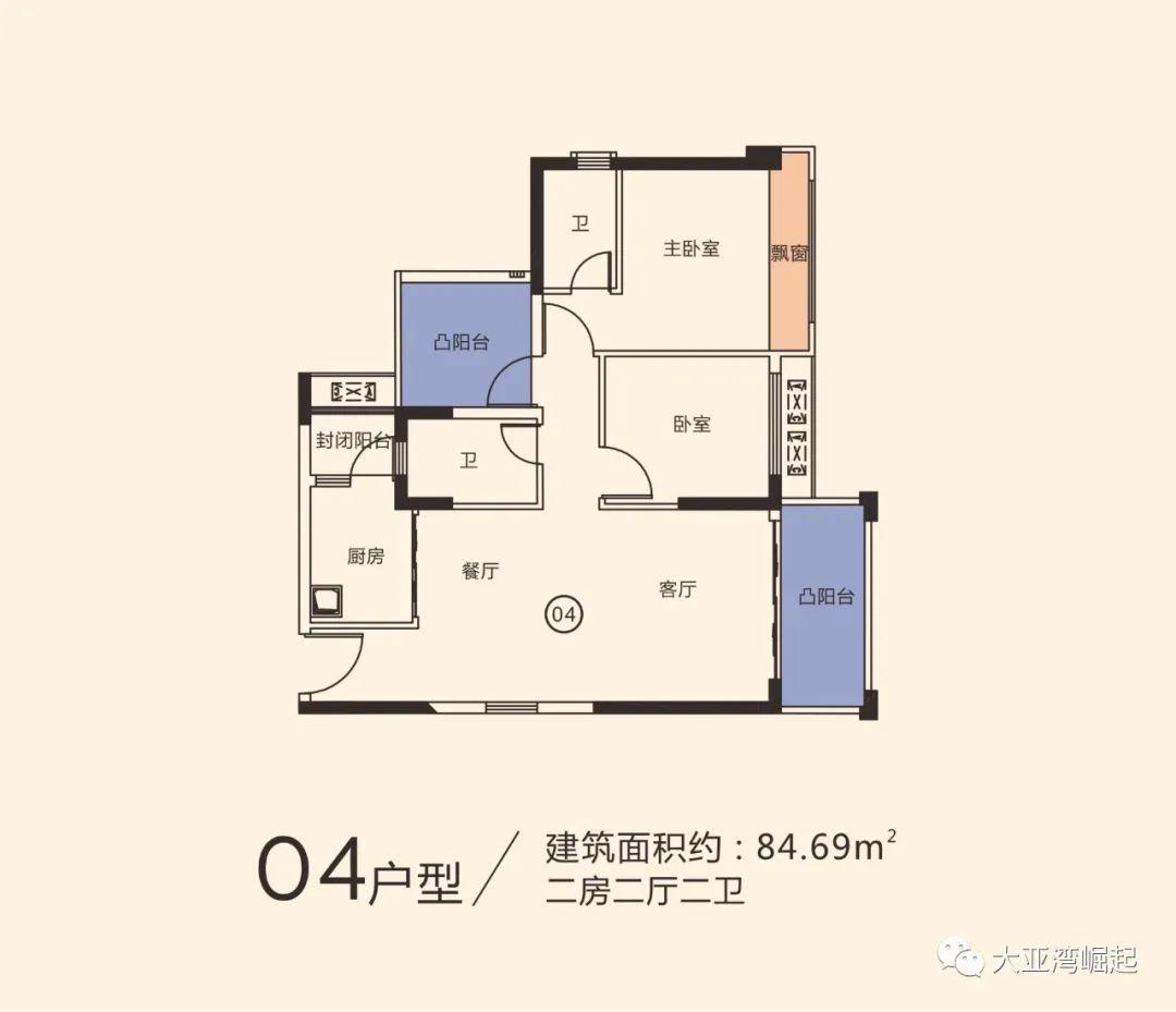 冠华城桂香园三期84平户型图