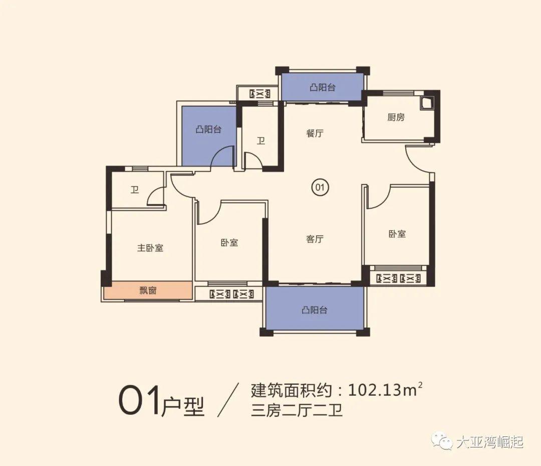 冠华城桂香园三期102平户型图