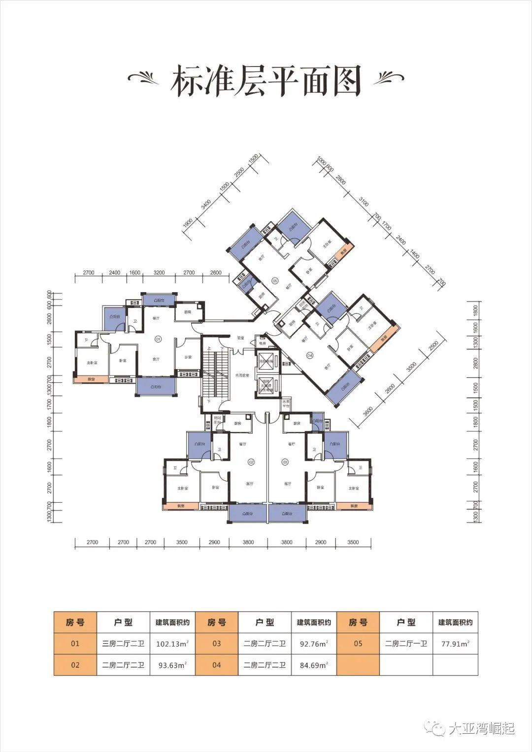 冠华城桂香园三期标准层平面图